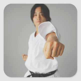 Blackbelt slå fyrkantigt klistermärke