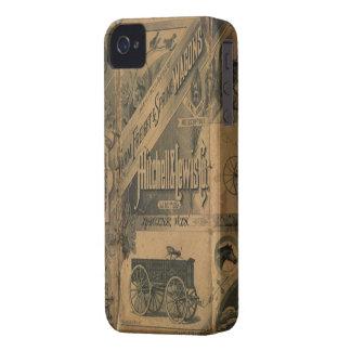 Blackberry bold 1885 för vintageCollageannonser iPhone 4 Case-Mate Fodral