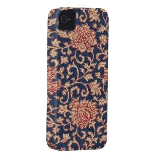 Blackberry bold 9700/9780 för blom- marin för iPhone 4 cover