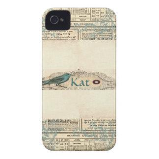 Blackberry bold 9700/9780 för vintagetidningsfågel iPhone 4 hud