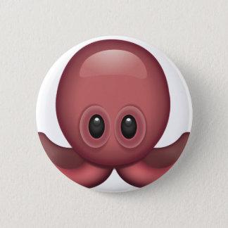 Bläckfisk Emoji Standard Knapp Rund 5.7 Cm