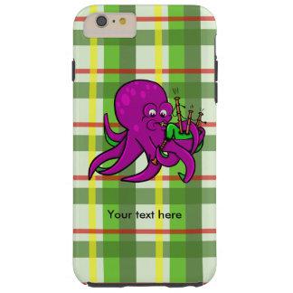 Bläckfisk som blåser danandemusik på säckpipa tough iPhone 6 plus fodral