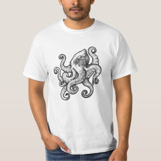 Bläckfisk (tatueringdesign) tshirts