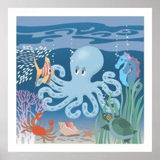 Bläckfiskaffischen 20x20 poster