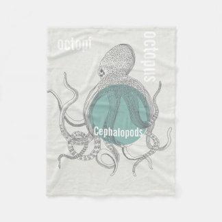 Bläckfiskpojke under havet fleecefilt