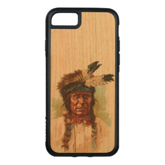 BlackfootSioux chef: Röd åska Carved iPhone 7 Skal
