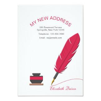 Bläckhornen och fjädern skrivar röra meddelande 12,7 x 17,8 cm inbjudningskort