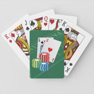 Blackjack med pokerchiper spelkort