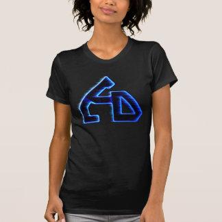 Blackout T för LCD-logotypflicka Tee Shirt