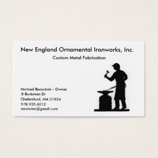 blacksmith1 New England dekorativt järnverk,… Visitkort