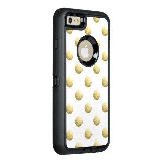 Bladguldfotopolka dots OtterBox defender iPhone skal