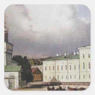 Blagoveschensky domkyrka- och fyrkantigt klistermärke
