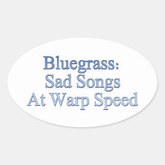 Blågräs: Ledsna sånger på snedvrider rusar Ovalt Klistermärke