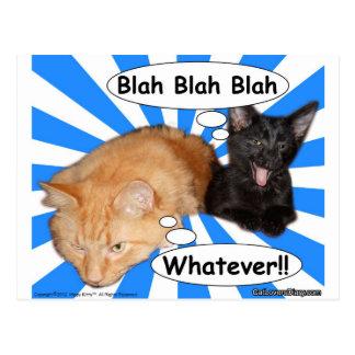 Blah Hippy kattunge - blah spelar ingen roll!! Vykort