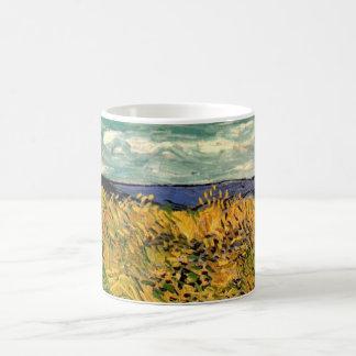 Blåklint för Van Gogh vetefält, vintagekonst Vit Mugg