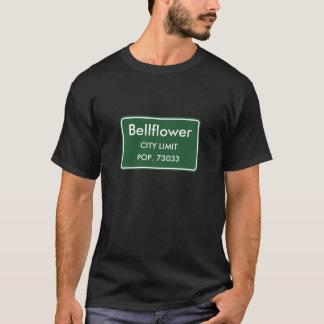 Blåklockan CA-stad begränsar undertecknar T-shirts
