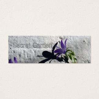 Blåklockor på väggen för trädgårdsmästarevisitkort litet visitkort