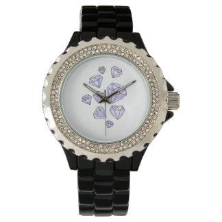 Blända diamantklocka armbandsur