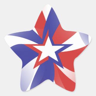 Blända mig patriotiska klistermärkear - rött vitt stjärnformat klistermärke