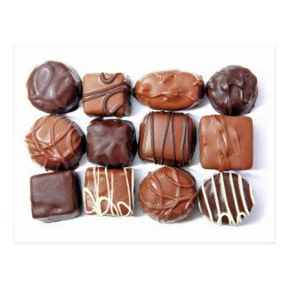 Blandad chokladvykort vykort