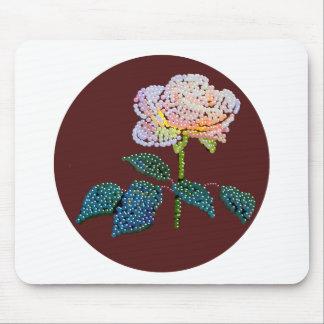 bländad rosa ros musmattor