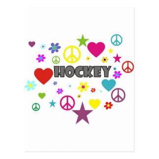 Blandade diagram för hockey vykort