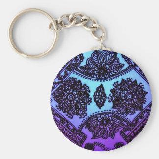 Blandning för Mehndi Hennablått Rund Nyckelring