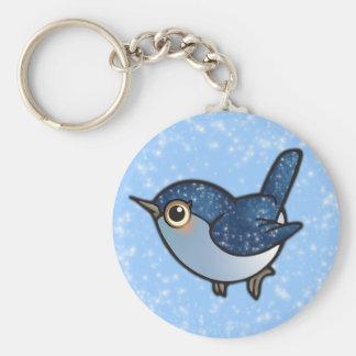 Blänka blåttfågeln rund nyckelring