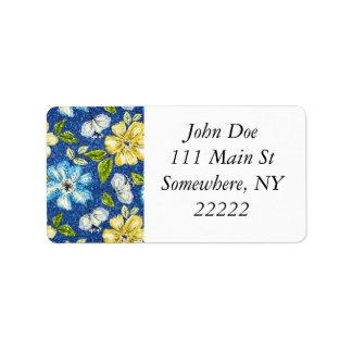 Blänka Tapestryblommigt Adressetikett