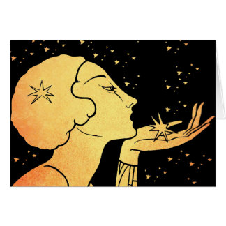 Blåsa dig en kyss hälsningskort