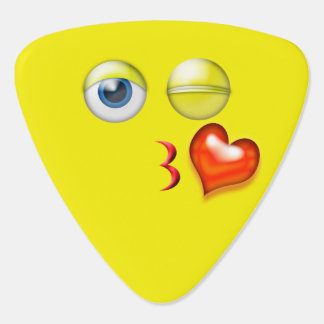 Blåsa en kyss Emoji Plektrum