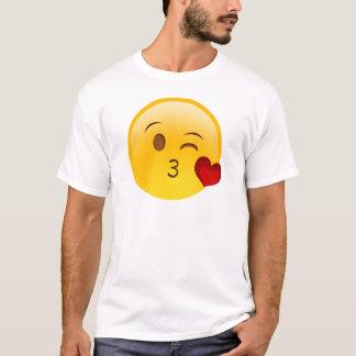 Blåsa en kyssemojiklistermärke tshirts