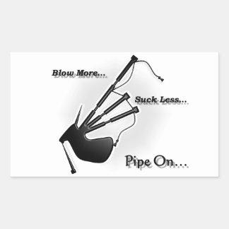 Blåsa mer…, Suga mindre…, (Modernt) Rektangulärt Klistermärke