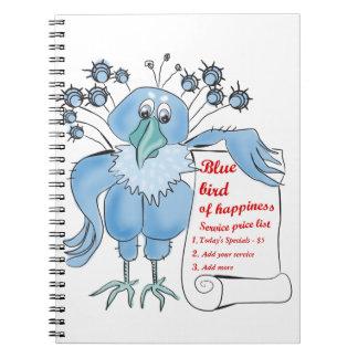 Blåsångare av lyckan vid BestPeople Anteckningsbok Med Spiral