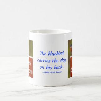 Blåsångare med det Thoreau citationstecknet 15 uns Kaffemugg