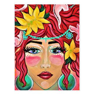 blåst vind och kysst sol vykort