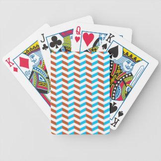 blått 3D och röd sparre Spelkort