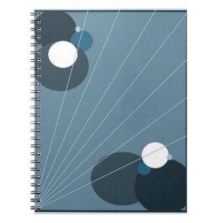Blått Abstarct Anteckningsbok