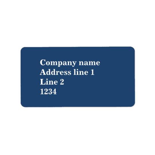 Blått Adressetikett