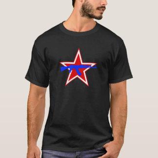 Blått AK över den röda stjärnan Tshirts