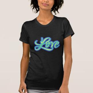 Blått älskar skrivar Retro 70-tal T Shirts