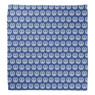 Blått ankrar nautiska sjömän scarf