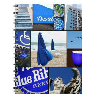 Blått Anteckningsbok Med Spiral