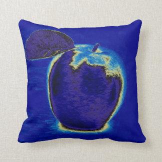 Blått Apple Kudde