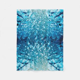 Blått bevattnar i cristals fleecefilt