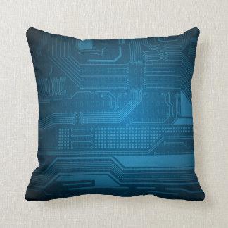 Blått binära Digital kodifierar teknologi kudder Kudde