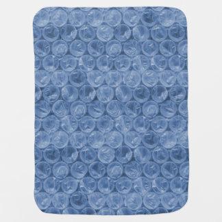 Blått bubblar sjalen bebisfilt