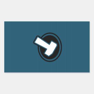 Blått bultar - klistermärken