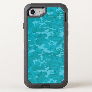 Blått Camo OtterBox Defender iPhone 7 Skal