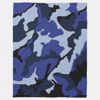 Blått Camo, stor ullfilt Fleecefilt